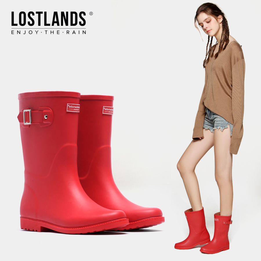 Good rain season handsome women's boots waterproof middle tube warm rain shoes shoes shoes fashion rain boots spring