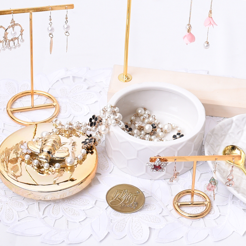 Gold bee ceramic jewelry box decorative basin jewelry candy storage