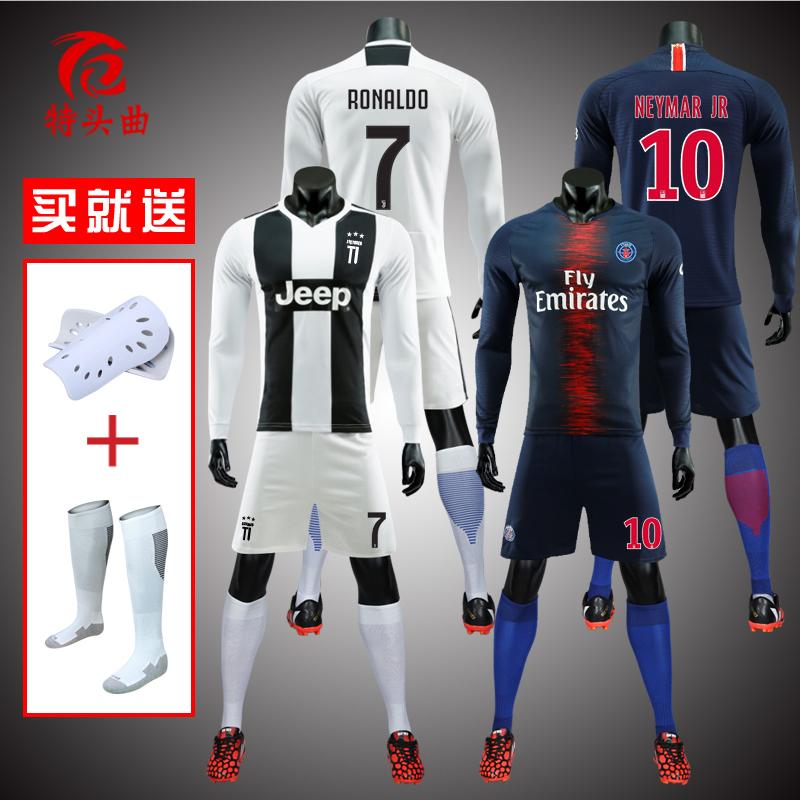 Winter long-sleeved Juventus football suit set 7 Crow shirt Paris Neymar  men s team purchase 36441b5e9