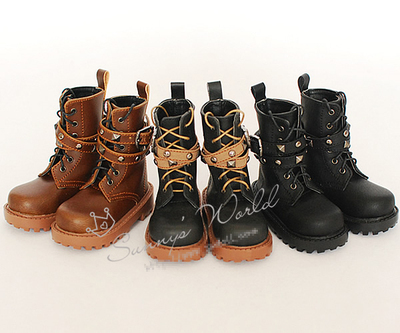 taobao agent SWDOLL Thirty Thousand Dean BJD Baby Shoes SUN69 Uncle 3 Points 4 Points Short Boots Black Brown
