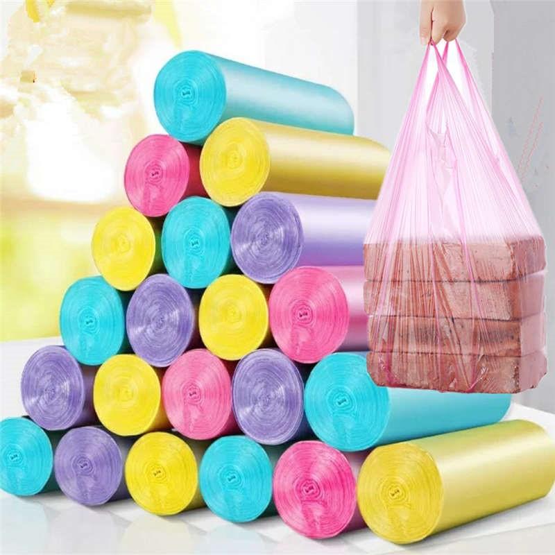 连卷背心袋垃圾袋厨房卫生间垃圾袋加大加厚卧室通用大号垃圾袋