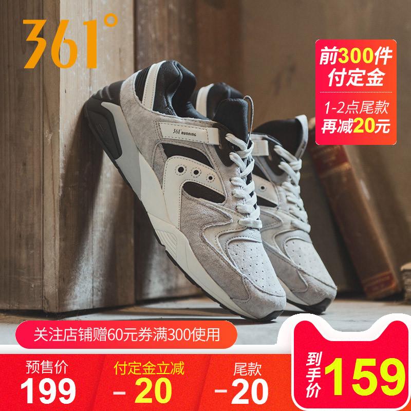 361° 男款反绒皮复古休闲运动鞋