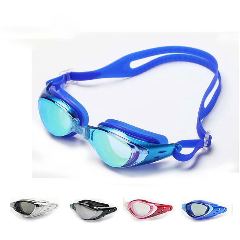 Kính bơi mạ điện nam khung lớn chống nước chống sương mù kính bơi phẳng kính lặn kính bơi nữ đào tạo thiết bị bơi - Goggles