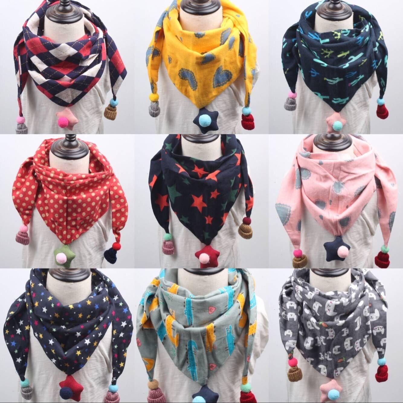 Scarf children boys and girls versatile baby triangle scarf cute baby warm neck