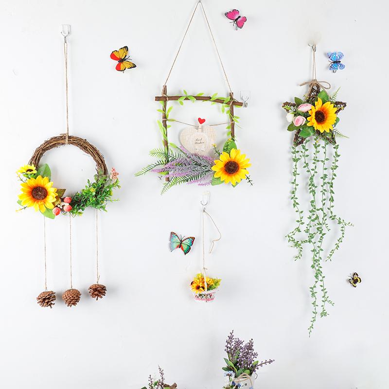 新款幼儿园室内墙面壁挂装饰挂饰花环装饰田园风格墙上挂饰详细照片