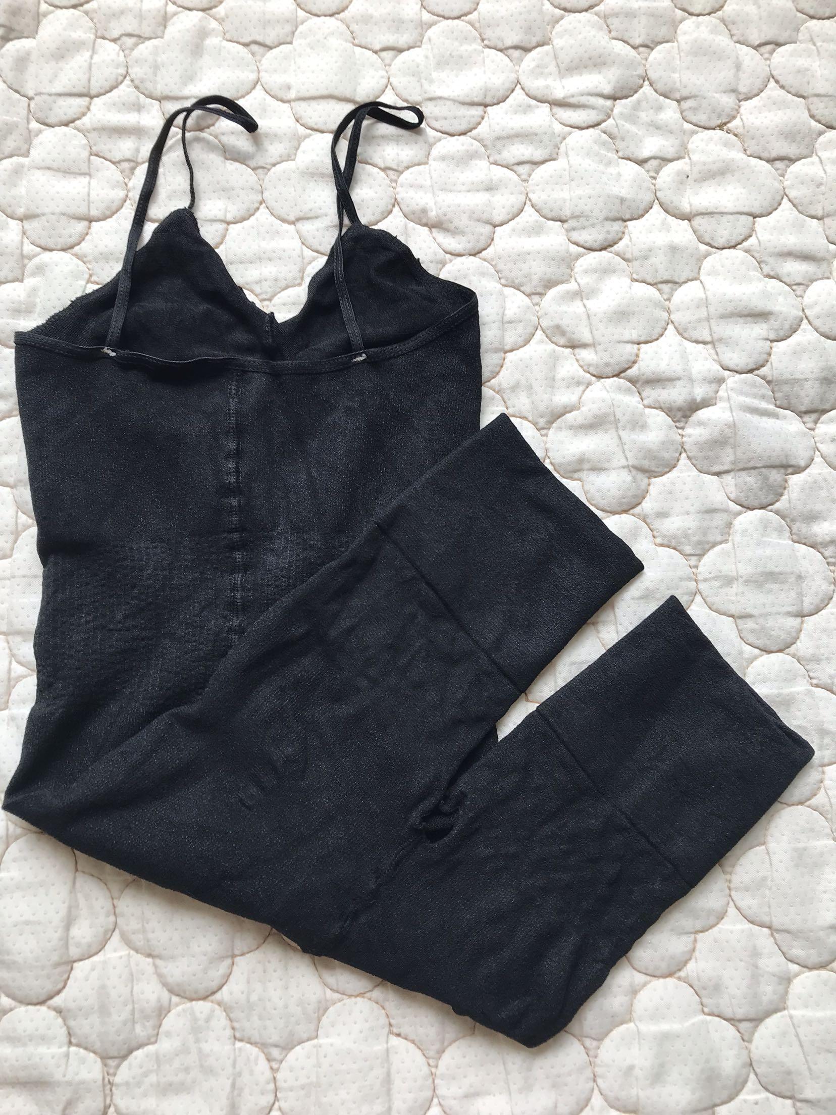 Quần lửng bó sát cơ thể định hình mở háng quần miễn phí quần nữ đáy quần yếm có độ co giãn cao - Áo vest
