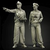 Ranger 1/35 resin soldier model shipping WWII tank soldier commander 2 people GK white mold hand to do 545