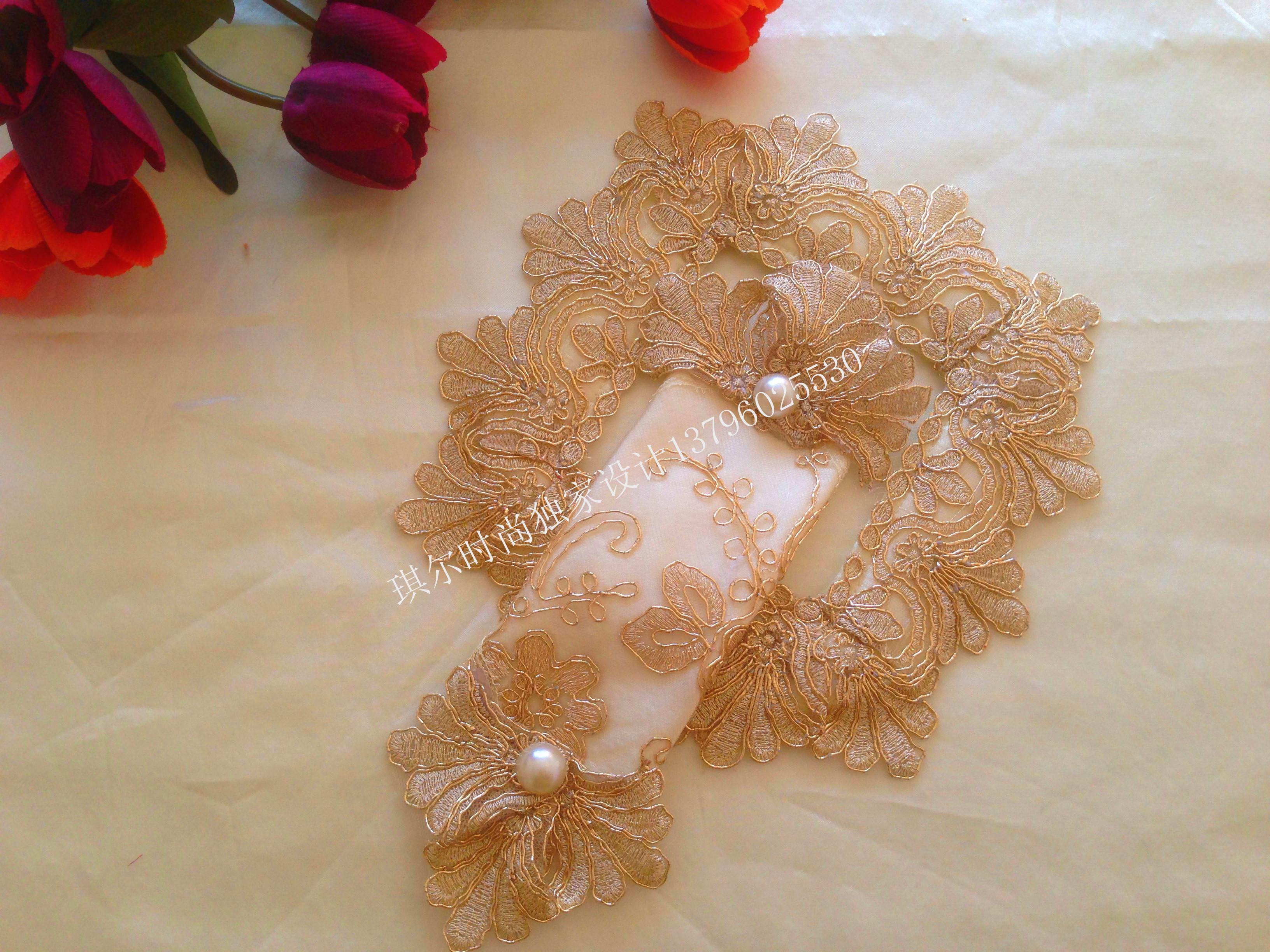 Высокая мода файлы личность континентальный китайский стиль стиль визуализация для говорить ткань кружево пылезащитный чехол дверной звонок пылезащитный чехол золотой
