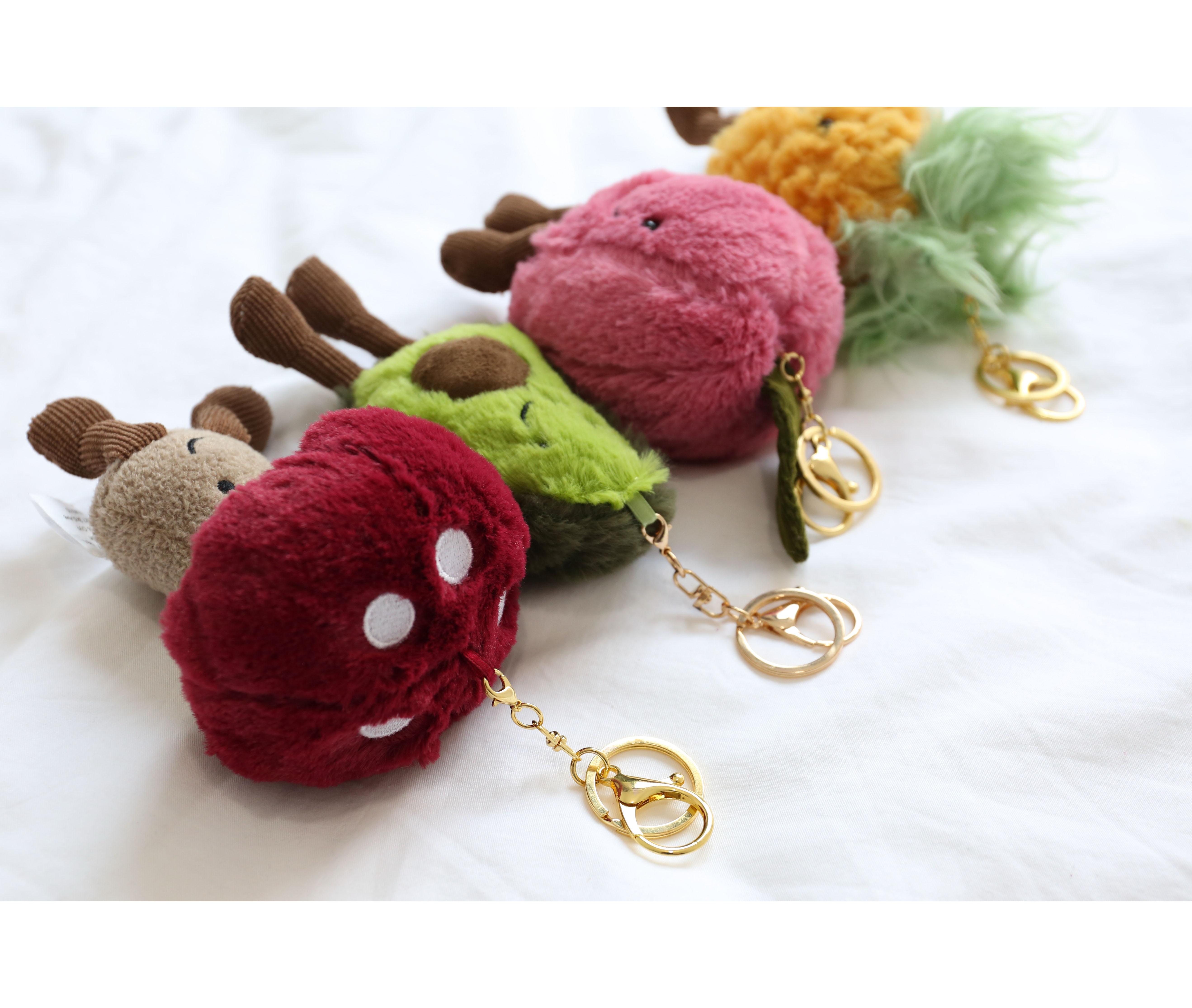 FZ丨日系復古可愛水果毛絨玩具公仔包包掛件少女心生日禮物ins潮