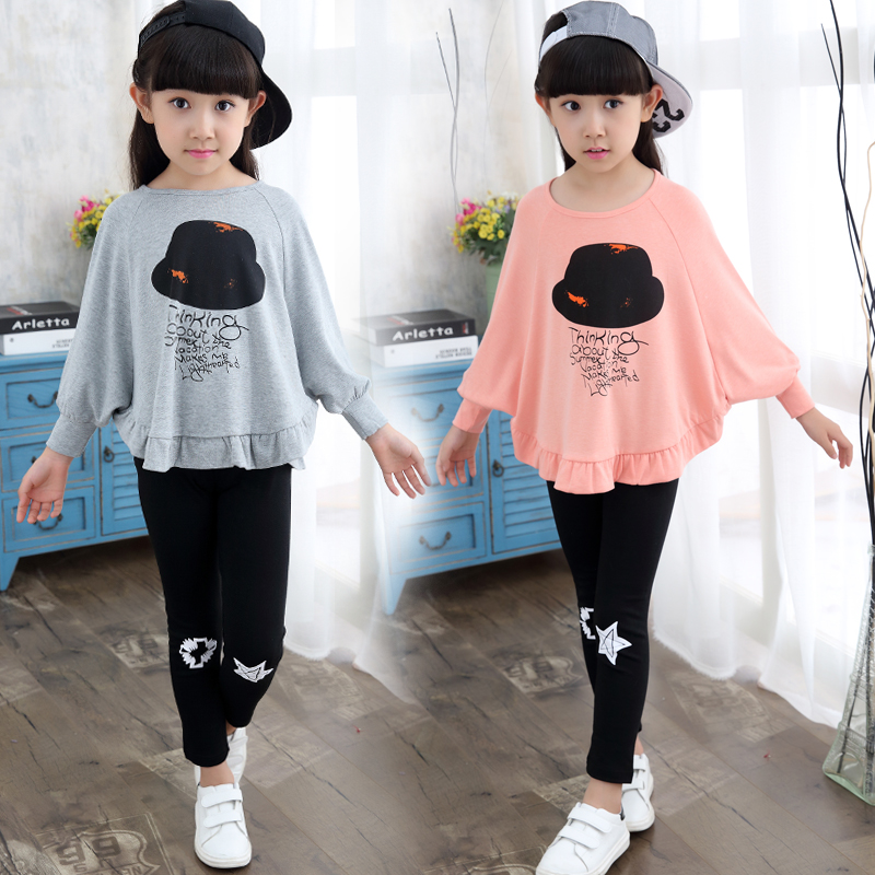 dd8c82926 Children's clothing children's girls spring and autumn Set 2019 new Korean  version of the tide two sets of 2-3-4-5-6-7-8 years old.