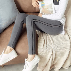 Spring and autumn plus velvet leggings nine points plus thickness models cotton women winter outer wear elastic waist pants feet significant lanky