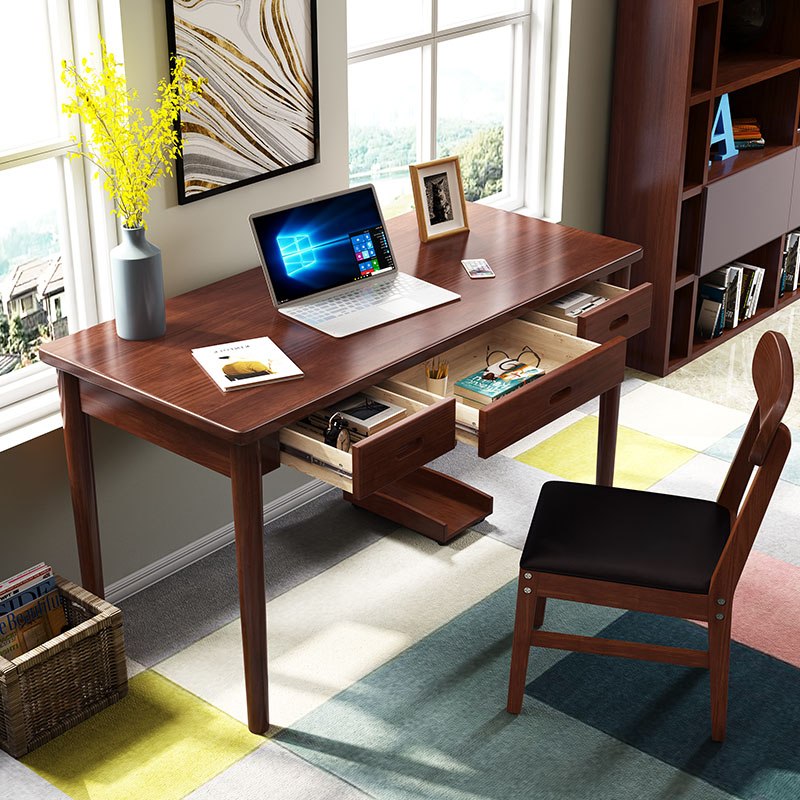 Nordic Solid Wood Desk Simple Home Student Computer Small