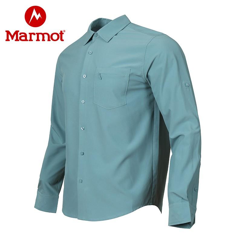 Marmot 土拨鼠 21年夏季新款 速干男式长袖衬衫 E41891 双重优惠折后¥279包邮 2色可选
