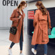 Windbreaker women mid-length 2019 spring and autumn new Korean version of leisure popular over the knee-length British wind waitmore coat
