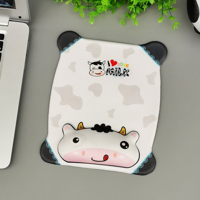 Dream day Korean version of the mouse pad wrist creative cute cartoon animation silicone chest comfortable soft wrist pad 3D hand plus thick female INS style rubber pad game boys computer office customization