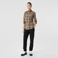 BURBERRY Check stretch cotton shirt 80222841