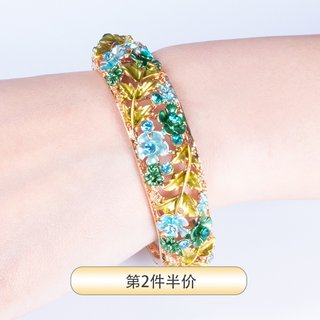 Authentic Beijing cloisonne bracelet female diamond bracelet opening characteristic memorial crafts traditional gifts for foreigners