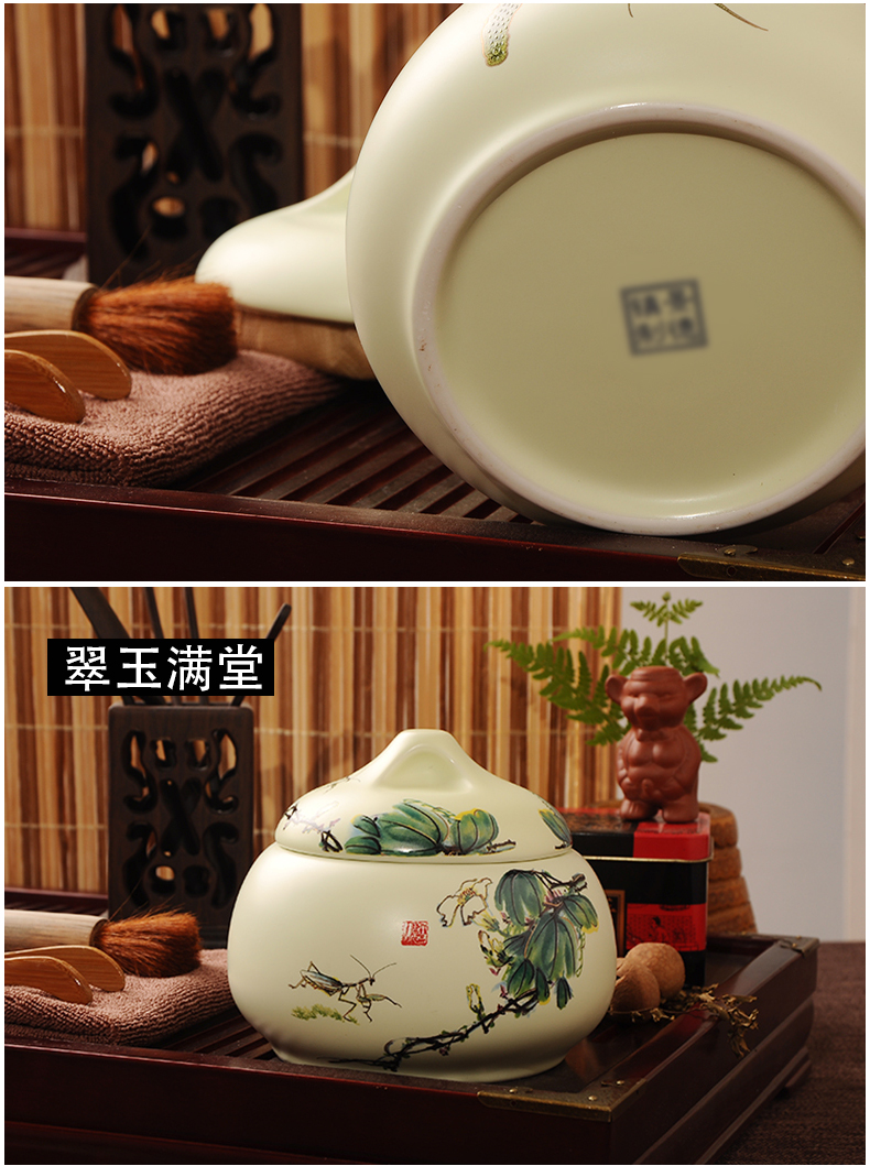 Red the caddy fixings ceramic seal tank storage POTS home two small storage tank jingdezhen medium tea cups