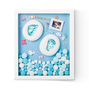宝宝手足印泥胎毛纪念品diy自制脚印永久婴儿童满月1百天创意礼物