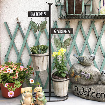 American retro creative home planting gardening creative plant simulation flower pot bucket balcony shop decoration decorations