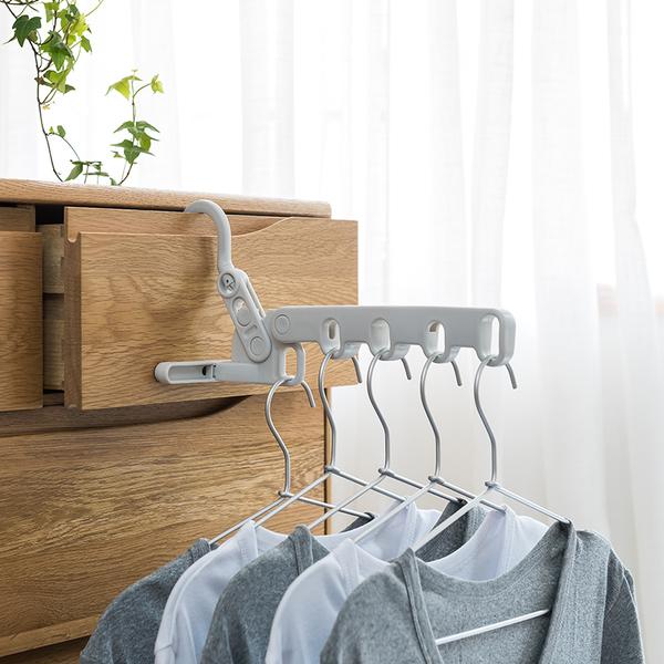 日本品牌 室内折叠晾晒衣架 浴室晾衣架 出差折叠衣架 免钉挂...