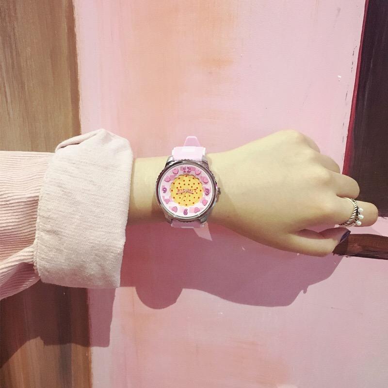 韩国ulzzang原宿软妹糖果简约卡通女学生可爱v糖果林小宅同款手表