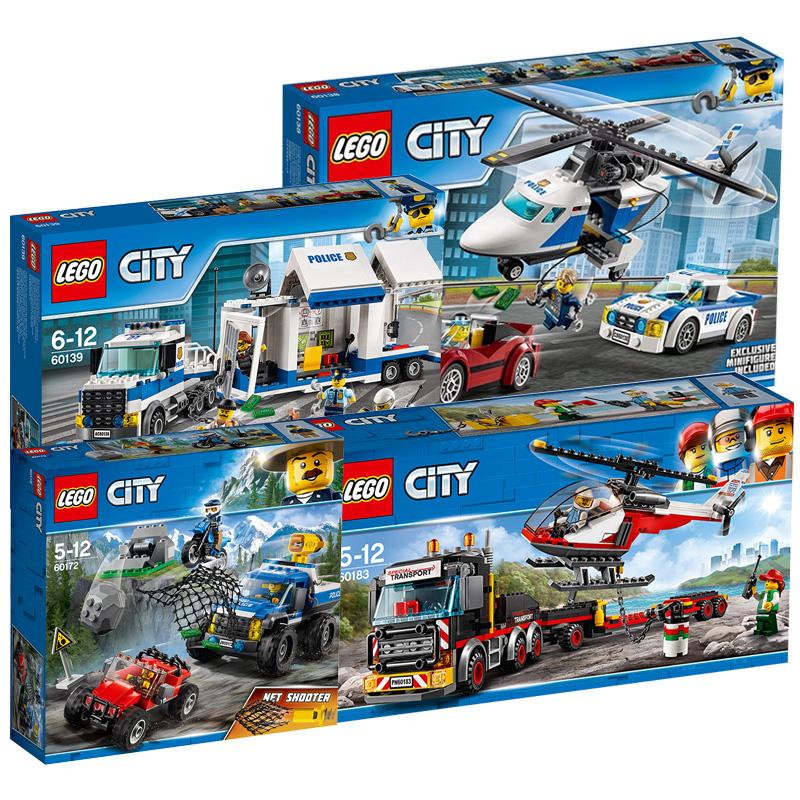 Лего строительные блоки city город серия ребенок собранный игрушка мальчик заклинание вставить мелкие частицы высокоскоростной погоня улов 60138