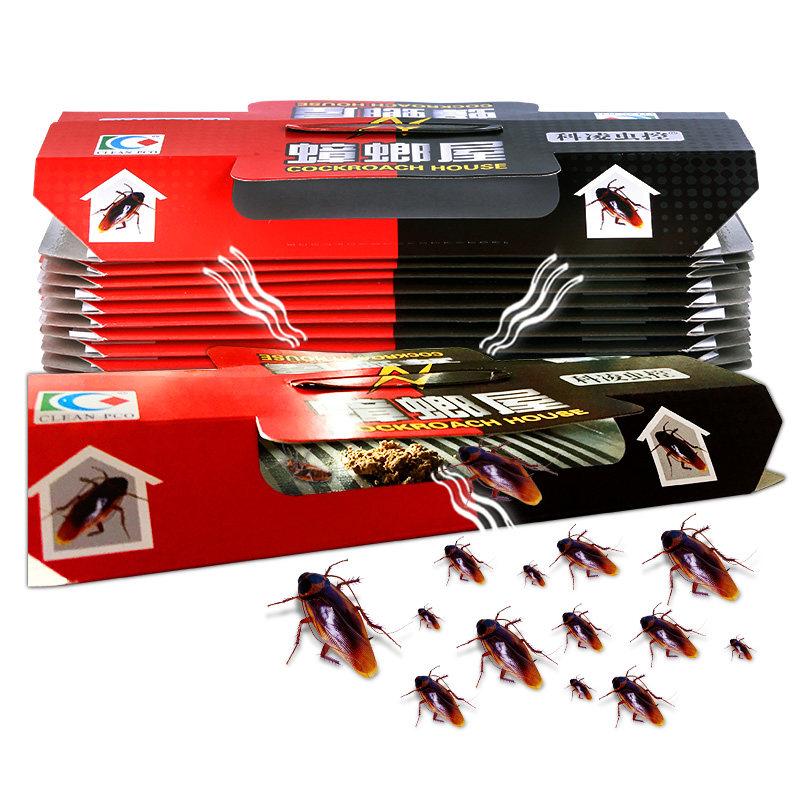 蟑螂屋捕捉器除灭蟑螂药神器无毒厨房强力清蟑螂贴克星家用全窝端