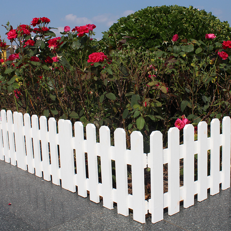 室外庭院阳台防腐木小栅栏花围栏室内装饰篱笆围墙木头护栏小花园