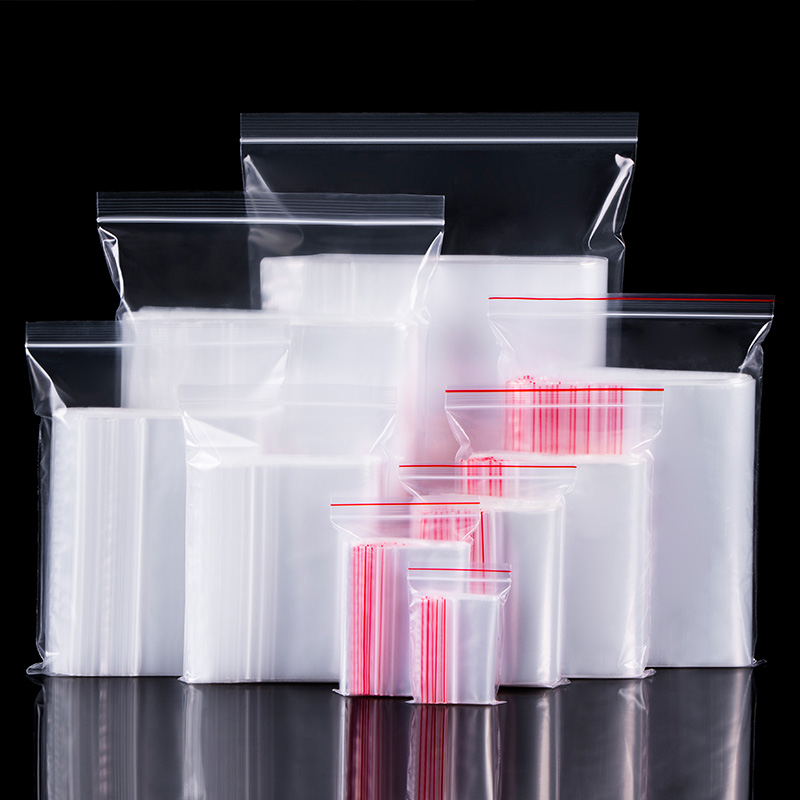 自封袋透明小號加厚食品分裝密封袋大號塑封口袋子塑料收納包裝袋