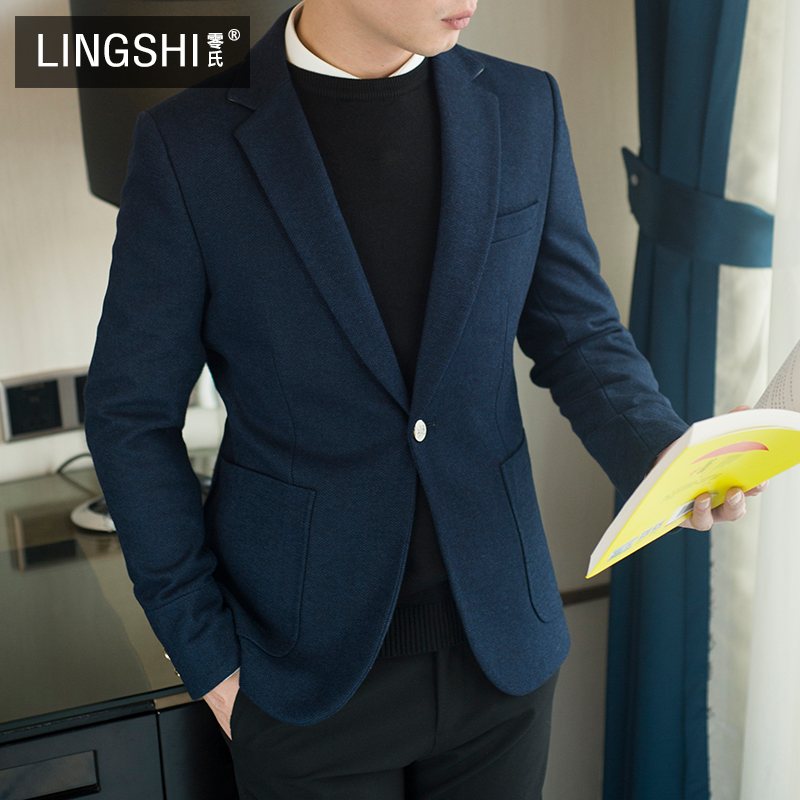 2020 New men's casual suit jacket Korean version slim young business is dressed in mao small suit jacket tide