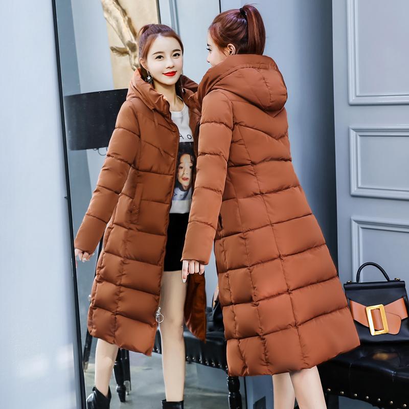 棉袄女2018新款反季外套冬季羽绒女棉服棉加厚棉衣长款冬装长过膝