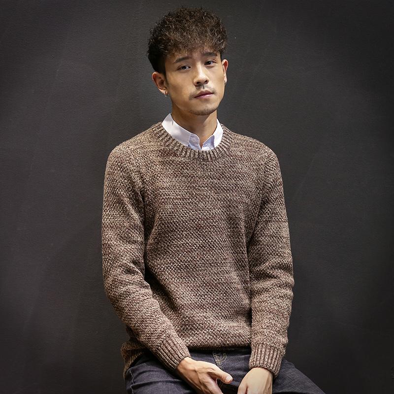 冬季加厚毛衣男粗线毛衫韩版