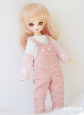 taobao agent ◆Sweet wine BJD◆6 points 4 points BJD SD four points six points cat sweater + bib suit stock baby clothes