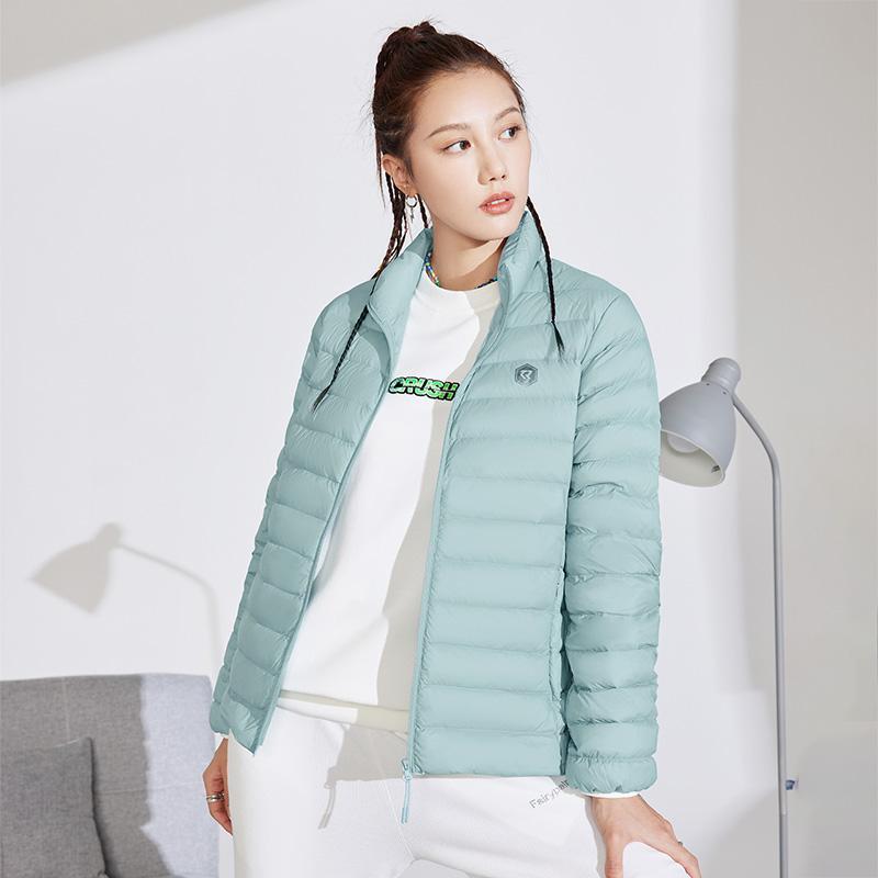 双11预售氢翼 361度羽绒服女2021冬季轻薄短款羽绒服保暖羽绒外套