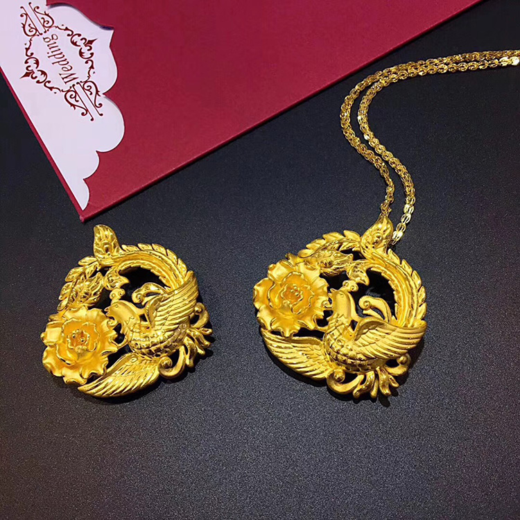 New gold 3d hard gold phoenix pendant female models genuine gold 3d new gold 3d hard gold phoenix pendant female models genuine gold 3d hard gold phoenix pendant female models aloadofball Images