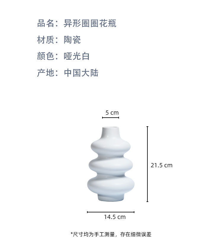 The Original design special - shaped loops ceramic vase lovely ins contracted and I floral outraged web celebrity dry flower arranging flowers is placed