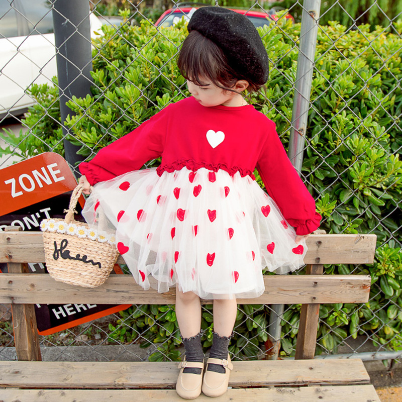 女宝宝2裙子2019春款1女童0洋气秋装连衣裙3岁小童洋气儿童公主裙