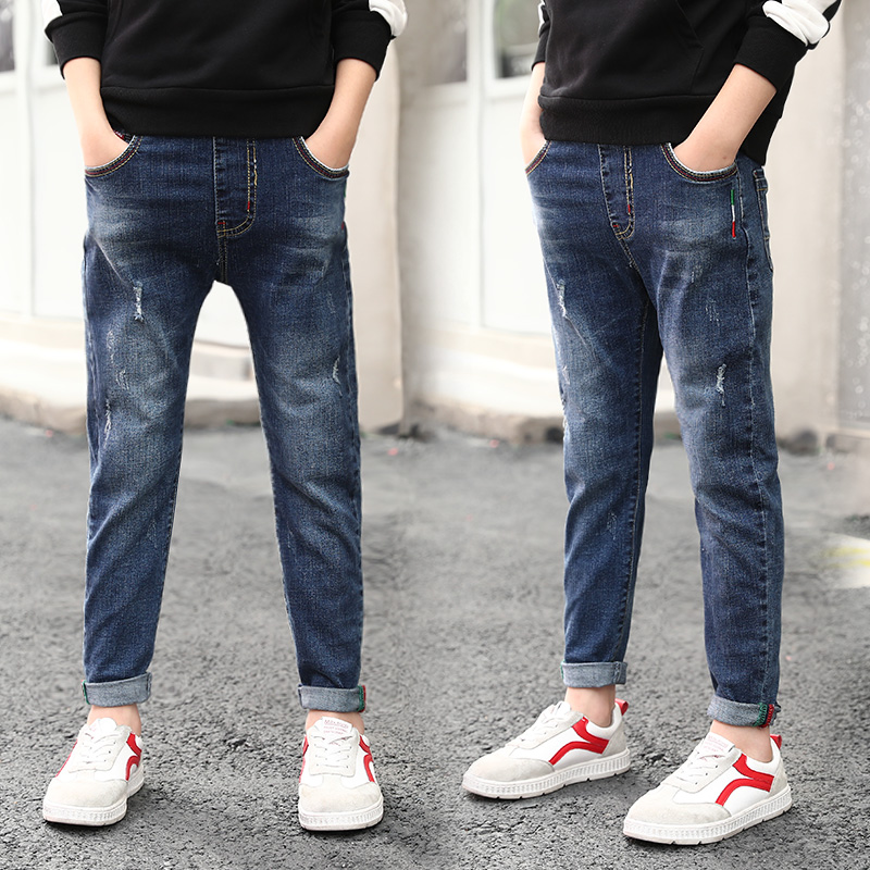 USD 55.20] Boys jeans Spring and Autumn 2020 new trendy children loose  Korean version of pants in the big boy's foreign gas spring pants -  Wholesale from China online shopping | Buy