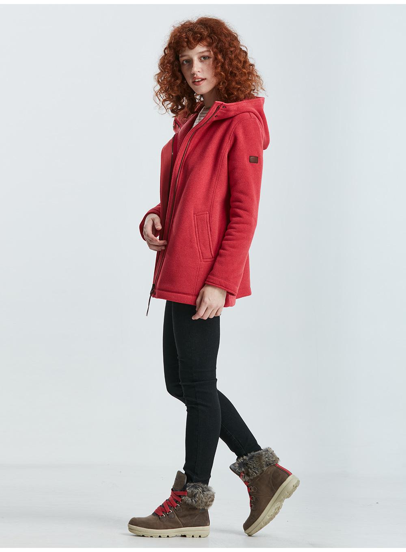 法国AIGLE艾高 女士厚实透气保暖中长款全拉抓绒衣 POLA F9商品详情图