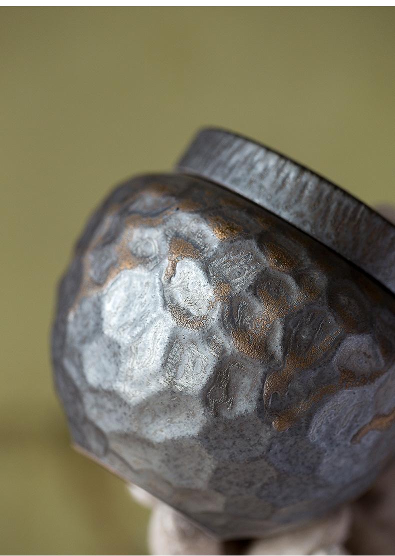Ultimately responds to coarse pottery tea pot of gold glaze Japanese small and mini ceramic POTS of tea storehouse puer tea storage POTS