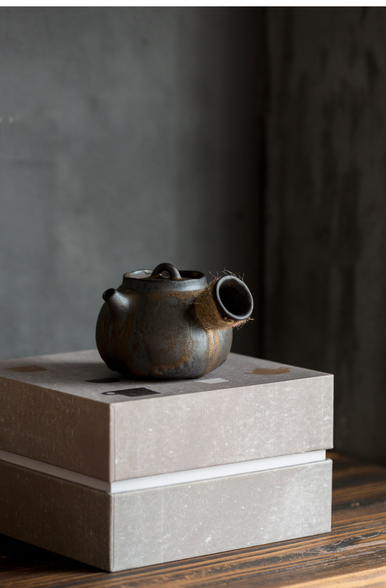 Ultimately responds to hand the teapot Japanese coarse clay POTS to restore ancient ways the pot of gold side small kung fu tea set against the single pot of hot tea
