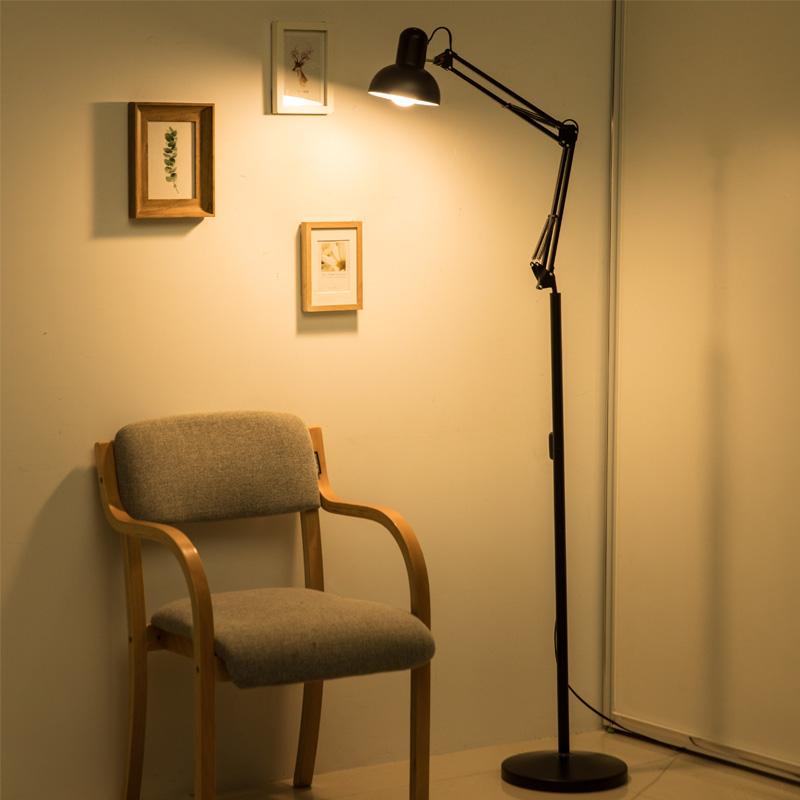 工作台灯美容院折叠美睫落地专用可移动美甲台风长臂立式极简轻奢