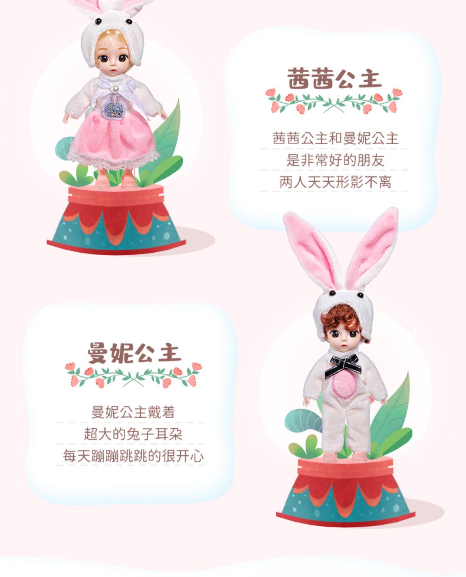 依梦儿芭比仿真洋娃娃衣服小号玩偶换装女孩儿童玩具公主礼盒套组详细照片