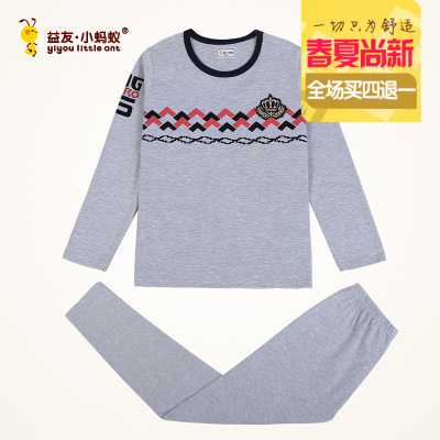 Friends of Friends of the small ants children's autumn cotton boy large size small ants teen Lycra autumn clothes suit