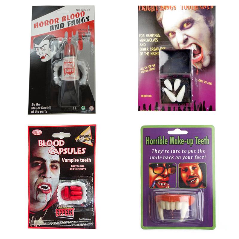 Halloween trang trí cung cấp đạo cụ cosplay zombie răng hổ răng đạo cụ ma cà rồng hàm răng giả niềng răng - Sản phẩm Đảng / Magic / Hiệu suất