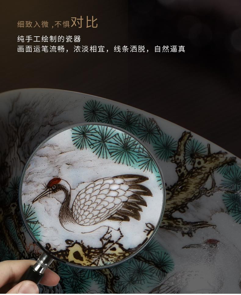 Clock home up enamel see colour sample tea cup jingdezhen ceramic kung fu tea masters cup sample tea cup manual hand - made tea set