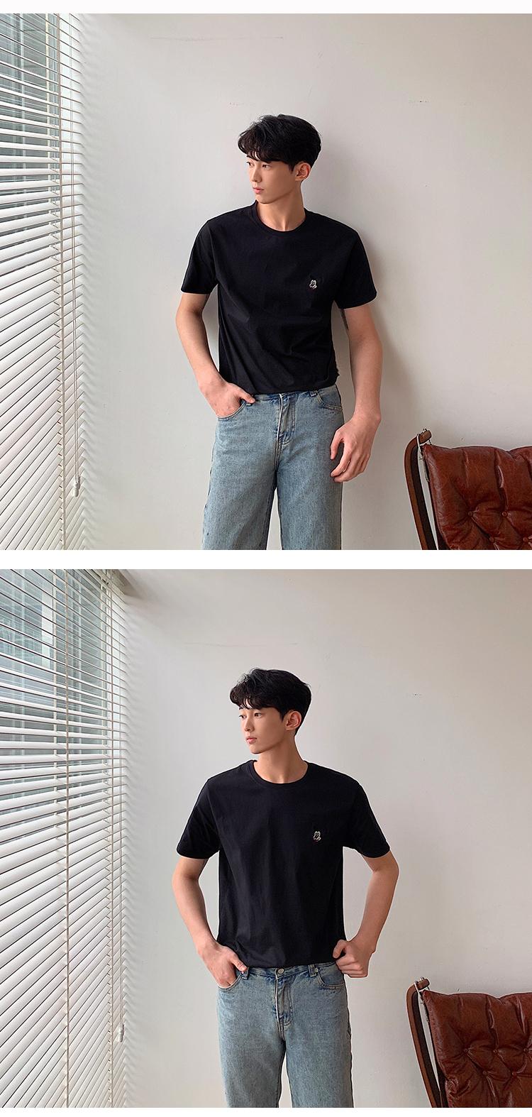米老鼠短袖T恤男韩版半袖打底衫513-1-T120-P30