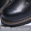 2018 new autumn British style small leather shoes female flat bottom wild college black large size women's shoes 41-43 Korean version