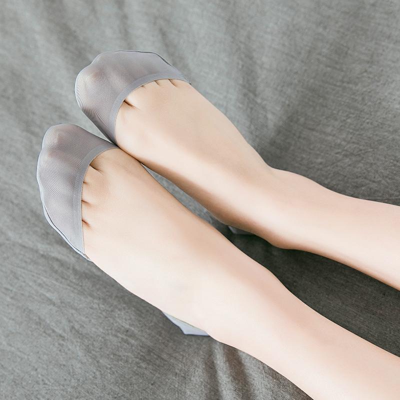 冰丝薄款短袜硅胶防掉跟隐形袜4双